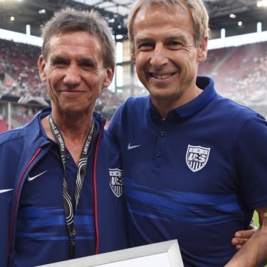 Kurt Mosetter und Jürgen Klinsmann